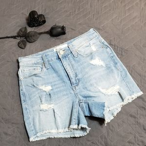 Mudd High Waisted Distressed Jean Shorts